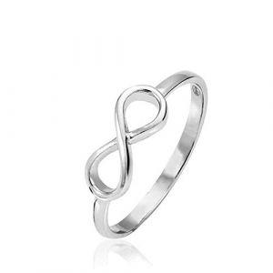 Rendez-vous RueParadis Paris - Bague Mobius - Symbole Infini - Argent 925 Sterling/Massif - Bijou Femme - Idée Cadeau Anniversaire (Bijoux - Rendez-vous RueParadis, neuf)