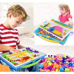ITODA 295pcs Mosaique Creative Puzzle Jouet Bloc de magnétique Jouet Educatif Créatif DIY Jeu de Construction Colorée Cadeau de Noël Fête Anniversaire pour Enfants Filles Garçons Plus de 3ans (ITODAUK, neuf)