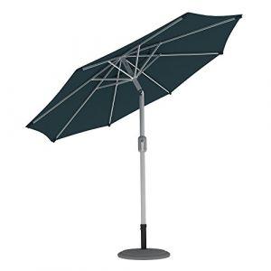 PARAMONDO Interpara parasol  Parasol pour jardin et balcon  3,5m (rond / vert / compris support et pied parasol (blanc) (Jalousiescout Shop, neuf)