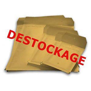 Déstockage 100 enveloppes bulles - type E/5 format 210x265 mm - extérieur MARRON/BEIGE (enveloppebulle, neuf)