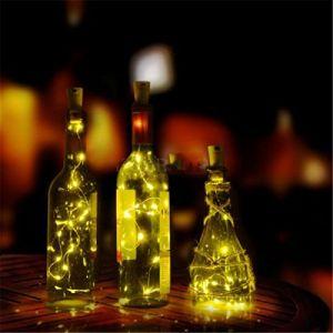 ILOVEDIY Guirlandes Lumineuses LED Solaire Bouchon de la Bouteille 1m 10 LEDs Fil de Cuivre Lumière Décorative pour DIY Bouteille / Bar / Guinguette / Chambre / Mariage / Noël / Fête (Blanc Chaud) (YWCTing, neuf)