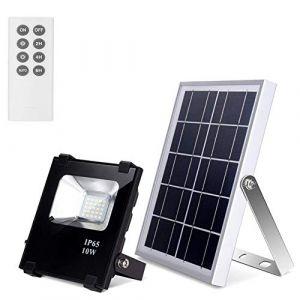 Lumières Solaires avec Télécommande LED 25 LEDs Étanches de Sécurité du Crépuscule à L'aube Éclairage Extérieur Panneau Solaire Spot Lamp pour Cour, Jardin, Terrasse (RICHARM DIRECT, neuf)