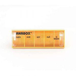 Anabox Pilulier Journalier Orange 5 cases (BIVEA, neuf)
