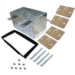 AERZETIX: Adaptateur Autoradio Façade Cadre Réducteur 2DIN pour Auto Voiture C40674 (Tuning, neuf)