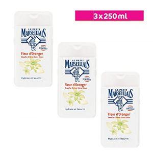 Le Petit Marseillais lot de 3 x 250 ml Gel Douche Extra Doux Fleur d'Oranger (Maxi&Mini Vendeur Pro Livraison Prioritaire, neuf)