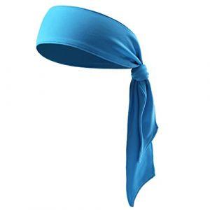 Head Tie Bandeau de sport pour course à pied, tennis, karaté, athlétisme, pirate (Bleu) (bethphia, neuf)