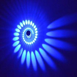 Coocnh Applique Murale Interieur LED Effet Moderne 3W Blau en Aluminium Lampe de Mur Decorative Pour Chambre Enfant Couloir Hôtel Restaurant Cuisine Salle à Manger (Coocnh online, neuf)
