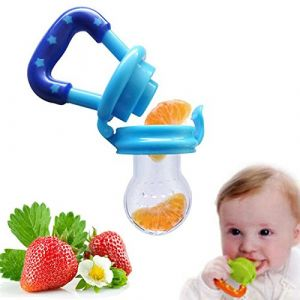 ILOVEDIY Tétine Sucette de Grignoteuse Anneau d'Alimentation Fruits en Silicone pour Bébé Samber (S, 1Pcs) (YIWUSHI FENGLANG DIANZI SHANGWU YOUXIAN GONGSI, neuf)