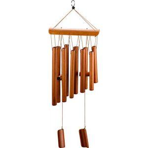 Kupink Carillon en Bois Carillon à Vent Bambou Vent Carillon à Vent en Bois pour Jardin Patio et Décoration Intérieure (Kupink FR, neuf)
