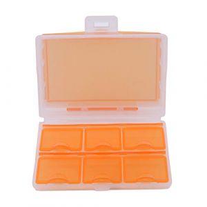 VWH Mini Travel Tablet Médecine Double Couche 6 Compartiments Distributeur Etui Boîte Conteneur de Médicaments Stockage (Orange) (Yiwu City Yingwei E-Commerce co Ltd, neuf)