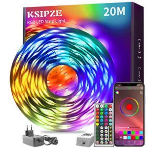 KSIPZE Guirlande lumineuse LED RVB à changement de couleur avec télécommande à 44 touches et bloc d'alimentation pour éclairage de placard, décoration de maison, bar, cuisine, fête (Ksipze FR, neuf)