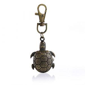 fob tortue quartz style rétro regarder avec laiton chaîne poche collier pendentif montre (Autulet Europe, neuf)