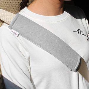GAMPRO Housse de protection pour ceinture de sécurité, 2-Pack Sangle de sécurité pour ceinture de sécurité pour adultes et enfants, pour ceinture de sécurité, sac à dos, sac à bandoulière (GRIS) (GAMPRO EU, neuf)
