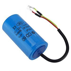 CD60 250V Condensateur De Courant Alternatif,Condensateur De Moteur De Démarrage De 150uf, Pour Compresseurs d'Air De Moteur,etc.Fréquence De 50Hz et 60Hz (ZunateU, neuf)
