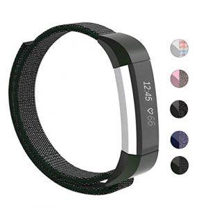 Qiliy Bracelet de Rechange pour Fitbit Alta/Alta HR/Fitbit ACE, Fitbit Alta et Fitbit Alta HR, Olive foncé (Luckstart-Qili, neuf)