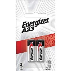 Energizer Lot de 2 piles alcalines A23 MN21 LRV08 GP23A 12V (P & F France, neuf)