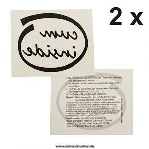 1 x cum inside - logo de tatouage en noir - tatouage fétiche temporaire (1) (Tattoodrucker, neuf)