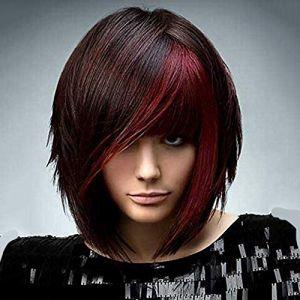 Novopus perruque? Femme Kinky Curly Rouge Cheveux Synthétiques Perruque afro-américaine Rouge/Noir Perruque Court Sans bonnet Noir/Rouge StrongBeauty:Noir/Rouge (Novopus, neuf)