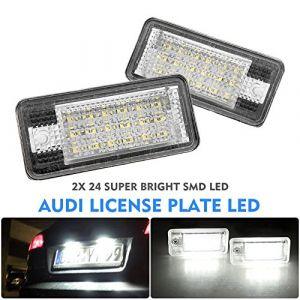 alftek 2pièces/jeu de lampes voiture ampoule LED Licence Plaque d'immatriculation pour A3S3A4B6B7A6S6A8RS4 (Alftek Inc, neuf)