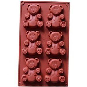 FantasyDay® Moule en silicone 6 Cavités en forme de Ours Pour Muffins, Cupcake Et Gelée ( Neuf Marketplace )