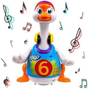 Oie musical de hip-hop qui marche, parle, chante et danse TG656 - Jouet super qui danse pour les garçons et les filles, les enfants ou les bambins par ThinkGizmos (Protégé par Marque de Fabrique) (DigitalGeek, neuf)