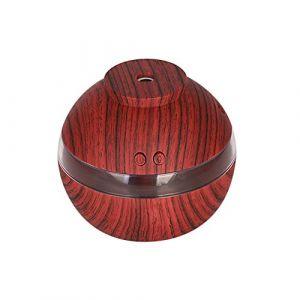 Bloodfin Mini humidificateur atomiseur,Avancée Humidificateur de Brume Fraîche Ultrasonique Fonction d'Arrêt Automatique Diffuseur d'huile essentielle pour la maison, bureau,le Spa (Marron) (Bloodfin, neuf)