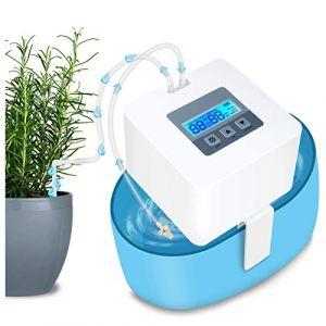 HZT DIY Kit Goutte-à-Goutte pour Plante d'intérieur, Système d'arrosage Automatique avec 30 Jours de minuterie programmable, Idéal pour lÂ'arrosage des Plantes Pendant Les Vacances (HZT, neuf)