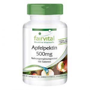 Pectine de Pomme 500mg Comprimés Vegan - 100 Pièces - Avec Calcium & Vitamine C (Fairvital - substances vitales bioactives, neuf)