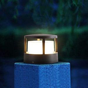 WRMING LED Borne Lumineuse Jardin Exterieur, Applique Murale Interieur Design IP65, Plafonnier Lumière Terrasse Aluminium, Lanterne Exterieur Jardin pour Chemins Patio, 3000K Blanc Chaud, Noir (WRMING-FR, neuf)