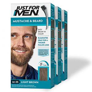 Just For Men Lot de 3 tubes de gel colorant pour moustache et barbe (CorpoeCapelli, neuf)