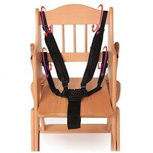 Domybest Harnais 5points Sécurité bébé Sangle de ceinture de sécurité pour chaise haute Poussette Landau Buggy (Domybestshop, neuf)