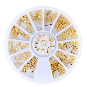 Holzsammlung 1 Boîte de Petit Strass Decoration Ongles Gel Tip Glitter rond Coloré en Résine pour Nail Art Manucure #39 (collecte de bois, neuf)