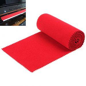 OriGlam - Protection anti-poussière souple pour clavier de piano 88 touches, pour clavier électronique, piano numérique, rouge (OriGlam, neuf)