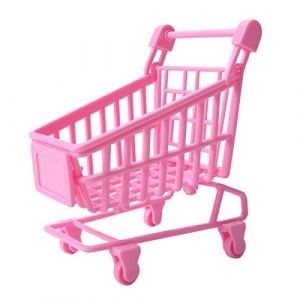 Yiifunglong Maison de poupée 1/12 - Mini chariot de supermarché - Paysage miniature (Yiifunglong, neuf)
