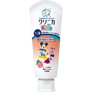 "Clinica Kid's Toothpaste 60g - Sukkiri Peach Flavor by Clinica (Couches bébé japonaises Merries , Moony """"Japan Nappies"""" LTD, neuf)"