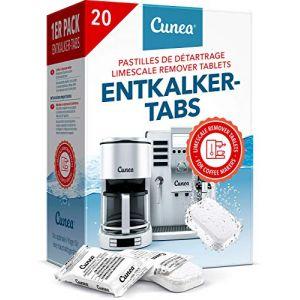 Détartrant Tablettes pour machine à café - 20x Comprimés détartrants compatible avec Tassimo Delonghi Saeco Senseo Durgol Philips Bosch Melitta (Woldo Group, neuf)