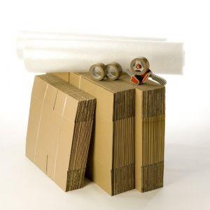 Kit cartons déménagement T3-T4 avec 3 rouleaux d'adhésif gratuits (CartonsDeDemenagement com, neuf)