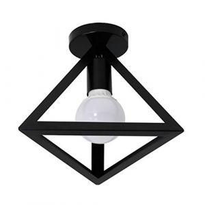 STOEX Plafonnier Industrielle Retro en Métal Cage Fer Noir, Suspension luminaire pour Salon Chambre Café Bar Restaurent Salle à Manger (D) (STOEX, neuf)