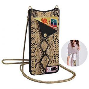 Qianyou, Sac bandoulière pour femme or doré iPhone 7 plus/8 plus (Qiyou, neuf)