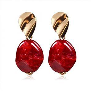 Boucles d'oreilles pour femmesBoucles d'oreilles pour femmesBoucles d'oreilles Acrylique Géométrique Rouge Dangle Boucle d'oreille Mariage BrincoRouge 6 (Graceguoer, neuf)