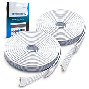Câble d'extension pour Philips Hue Lightstrip Plus (3 m, Pack de 2, Blanc) (Litcessory EU, neuf)