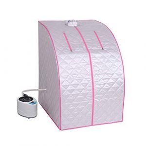 Type de support de cuisson à la vapeur, Boîte de sauna à vapeur, Relaxation de perte de poids Détox des sources chaudes 72 * 84 * 105cm 2L (Rose/Bleu),Pink,72 * 84 * 105CM (Mayiyahei, neuf)