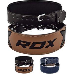"""RDX Ceinture Musculation Fitness 4"""" Cuir Vachette Bodybuilding Force Belt Lombaire Entraînement Halterophilie (RDXINC LTD, neuf)"""