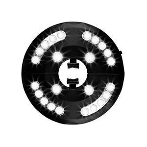 Usmascot - Lampe pour Parasol de Jardin, Patio Umbrella Light, 24 LED, 3 Model d'illumination, Lumineux de Parasol pour Terrasse, Jardin, Grand Parapluie (Lumière Blanche) (Aoruisi, neuf)