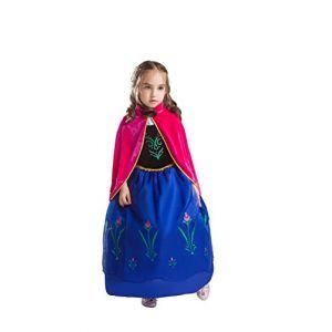 ELSA & ANNA® Filles Reine des Neiges Princesse Partie Costumée Déguisements Robe de Soirée FR-FBA-ANNA2 (3-4 Ans, FR-ANNA2) (UK1STCHOICE-ZONE, neuf)