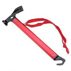 Yosoo Maillet Marteau pour Piquet De Tente Extracteur Outil Multifonctionnel Accessoire Tente pour Camping Randonnée (Couleur : Rouge) (Socialme-eu, neuf)