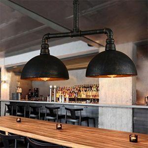 éclairage romantique Loft vintage country américain fer forgé industriel lustre tuyau personnalité créative (gongchangyijia, neuf)