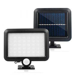 PUAO Projecteur solaire à LED avec détecteur de mouvement, lampe solaire Projecteur Applique solaire étanche à économie d'énergie pour Patio, jardin, porte, couloir, chemin, Hof (FXxswey, neuf)