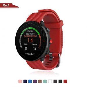 Bemodst Bracelet pour Polar Vantage M Smartwatch, Bande de Remplacement en Silicone Poignet Sangle de Sports Watch Accessoires pour Polar Vantage M Montre Intelligente (Rouge) (LiQian Tech, neuf)