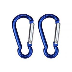Verrouillage de la Serrure, 4 x Alliage d'aluminium D pour Mousqueton d'extérieur, Crochets à Ressort pour Porte-clés, Escalade, Multicolore (xinyiliangy, neuf)